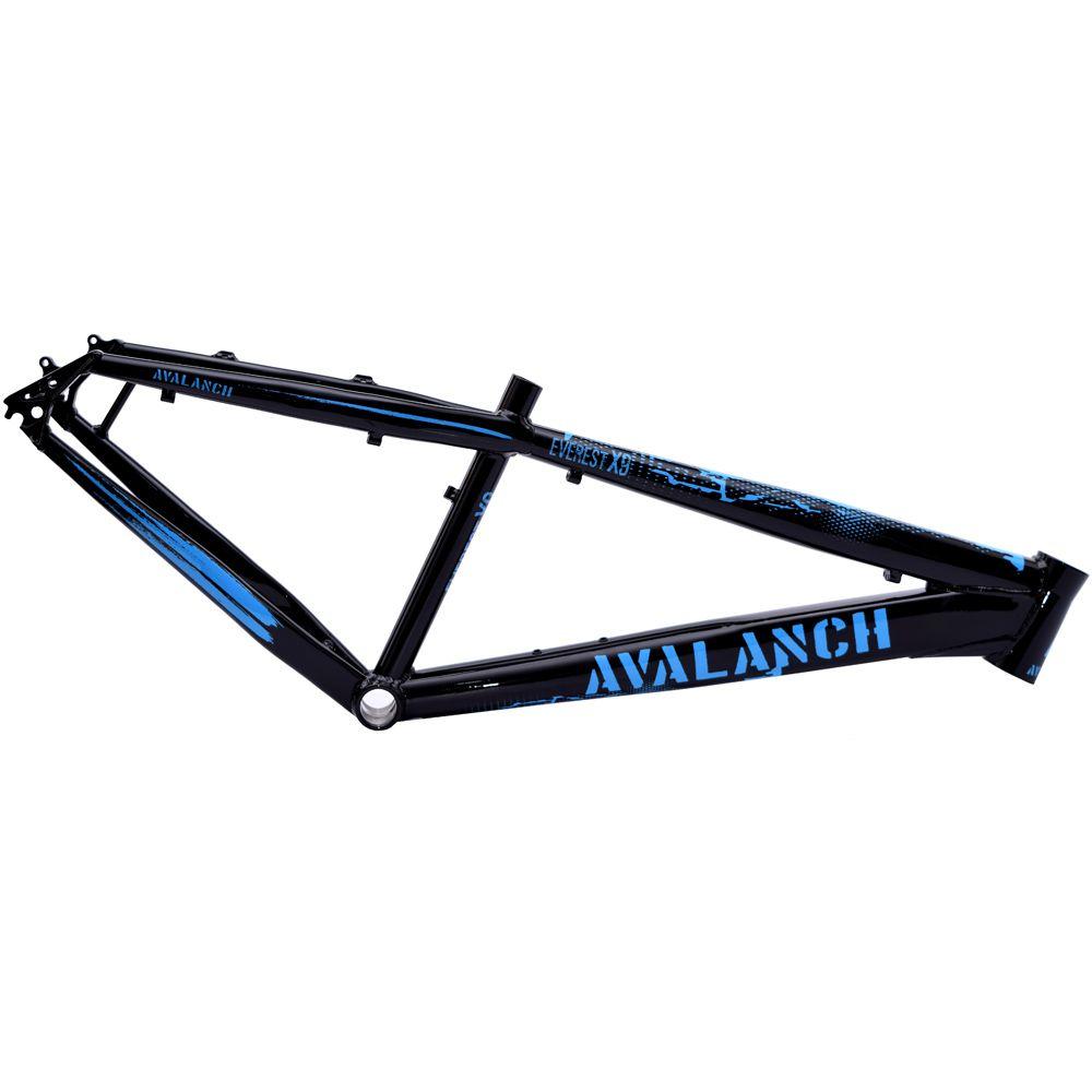 Quadro 26 Avalanch Everest X-9 Dirt Freeride Preto Brilho e Azul