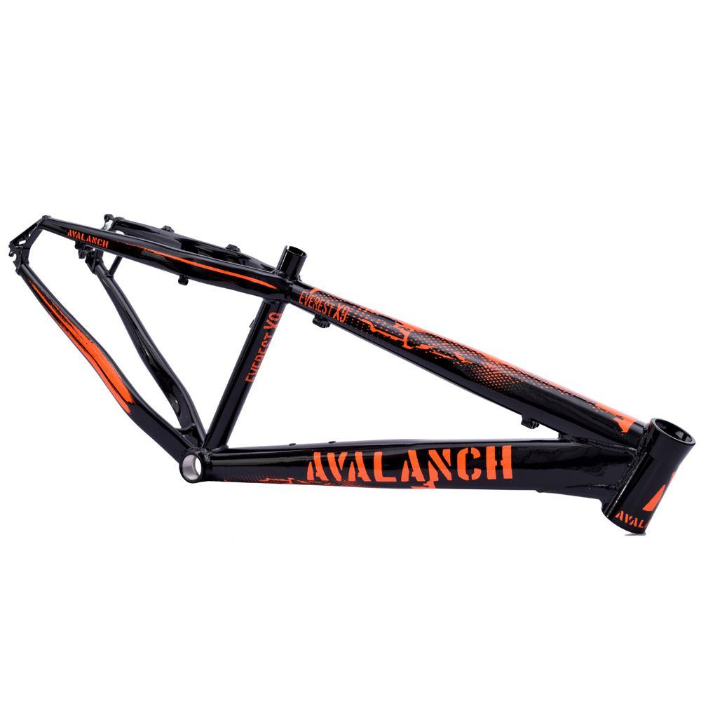 Quadro 26 Avalanch Everest X-9 Dirt Freeride Preto Brilho e Laranja