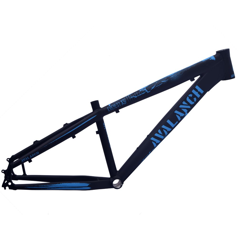 Quadro 26 Avalanch Everest X-9 Dirt Freeride Preto Fosco e Azul