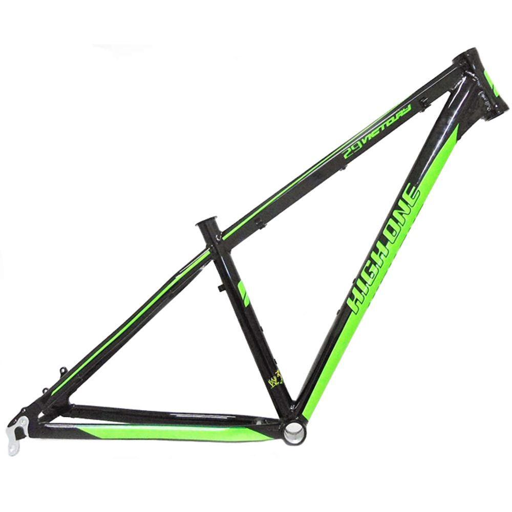 Quadro Bicicleta 29 High One Victory Preto/Verde Tam 16