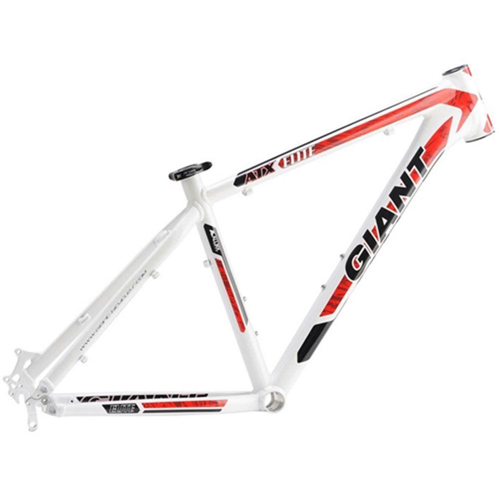 Quadro Bicicleta Giant Aro 26 Alumínio Atx Elite Tam 17 Branco E Vermelho