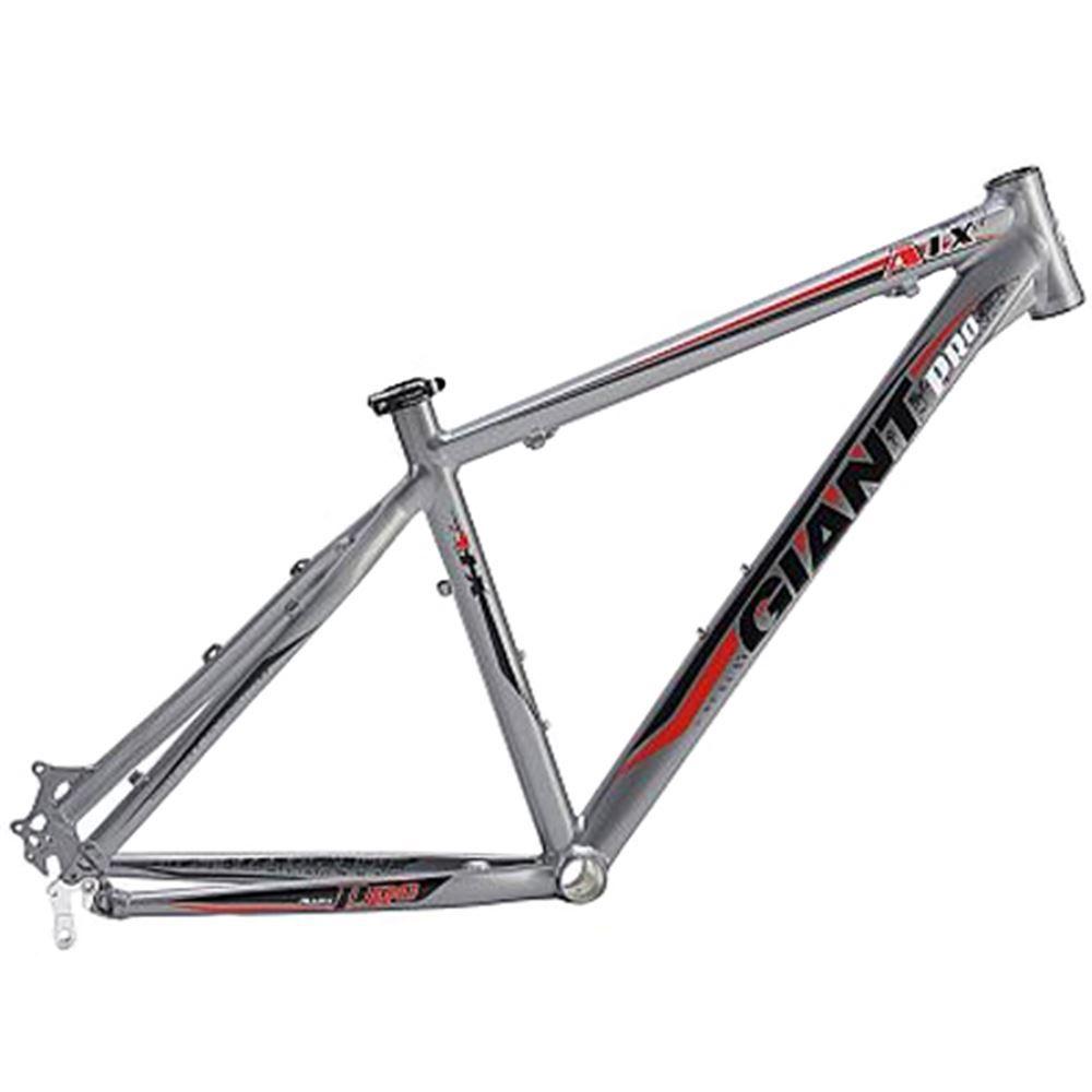 Quadro Bike Aro 26 Alum Giant Atx Pro Prata Tamanho 21