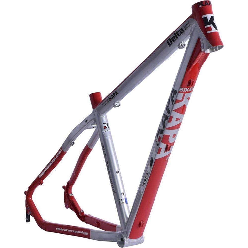 Quadro Bike Aro 29 Alum Kapa Delta Prata/Vermelho Tam 17