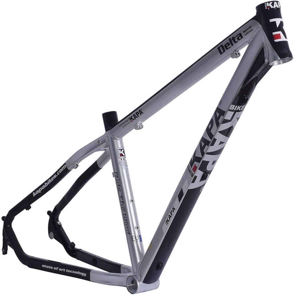 Quadro Bike Aro 29 Alum Kapa Delta Preto/Prata Tam 18