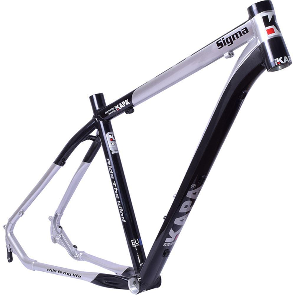 Quadro Bike Aro 29 Alum Kapa Sigma Preto/Prata Tam 17