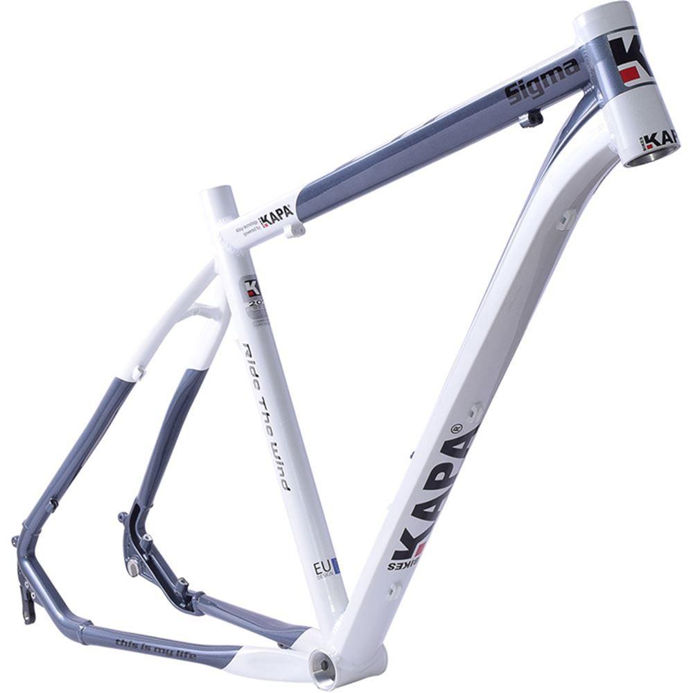 Quadro Bike Aro 29 Mtb Kapa Sigma Branco/Cinza Tam 17
