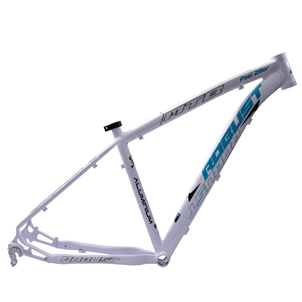 Quadro Bike Aro 29 Robust Feel Tam. 18 Branco e Azul