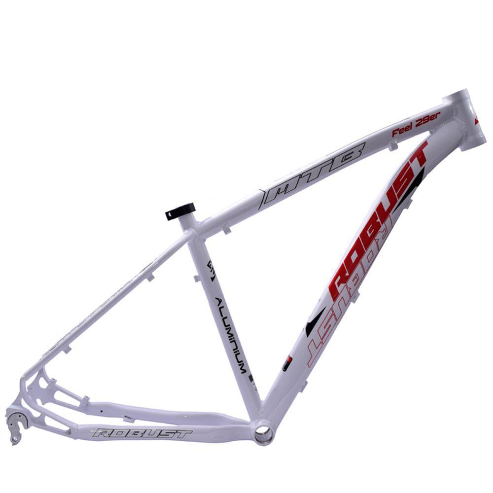 Quadro Bike Aro 29 Robust Feel Tam. 18 Branco e Vermelho