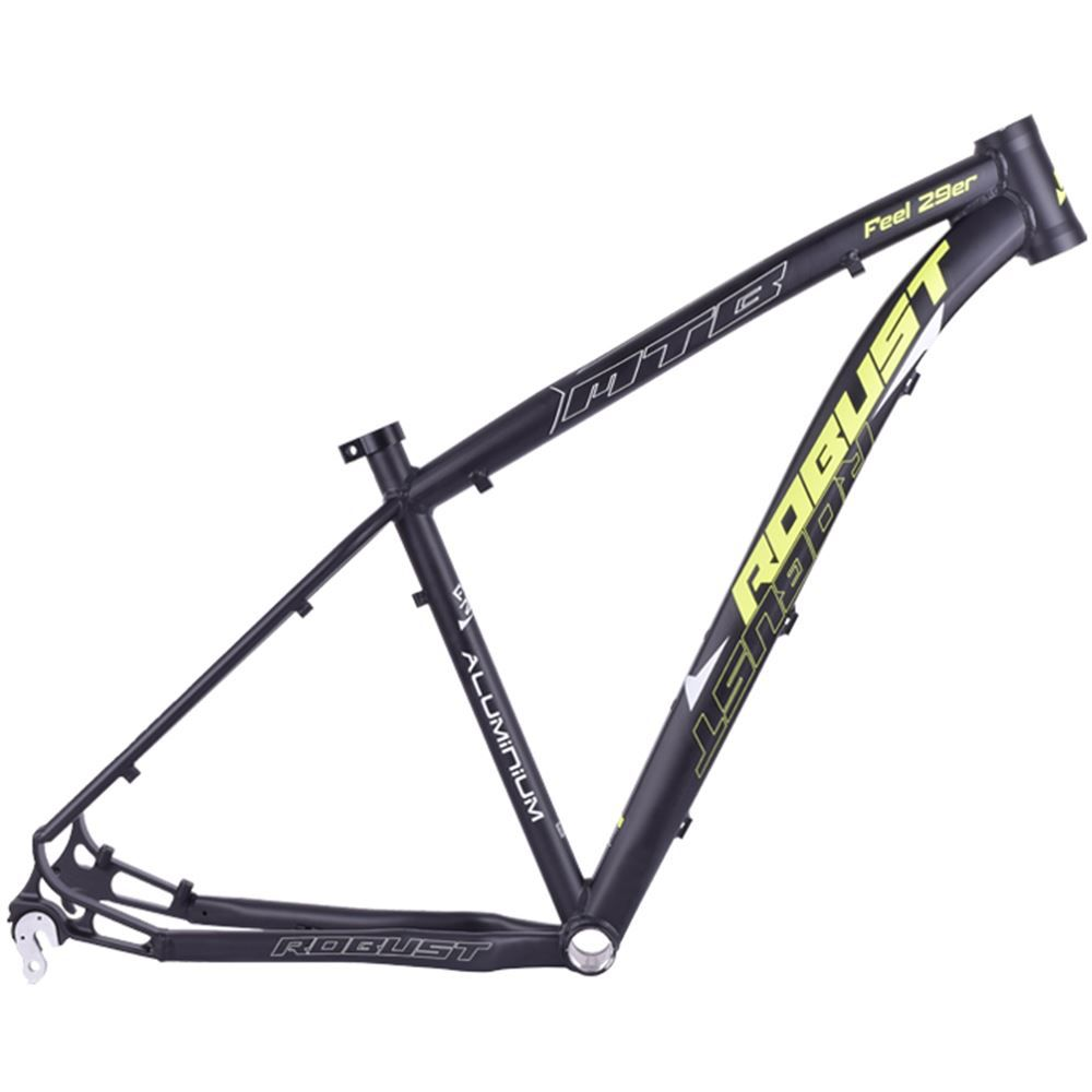 Quadro Bike Aro 29 Robust Feel Tamanho 16 Preto E Amarelo