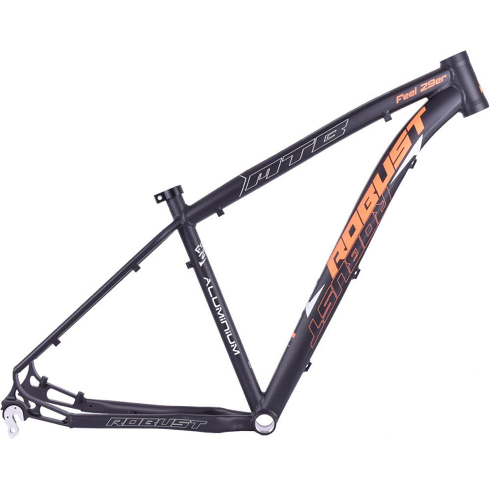 Quadro Bike Aro 29 Robust Feel Tamanho 16 Preto E Laranja