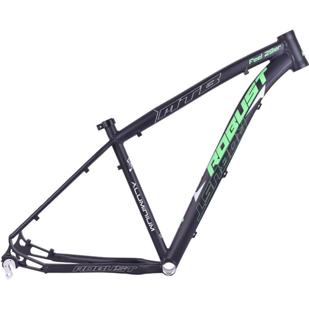 Quadro Bike Aro 29 Robust Feel Tamanho 16 Preto E Verde