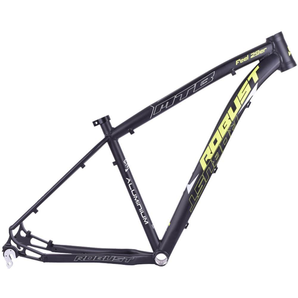 Quadro Bike Aro 29 Robust Feel Tamanho 18 Preto E Amarelo