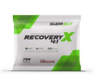 Recovery X 4:1 sachês 75g - Sudract Nutrition Sabor Chocolate