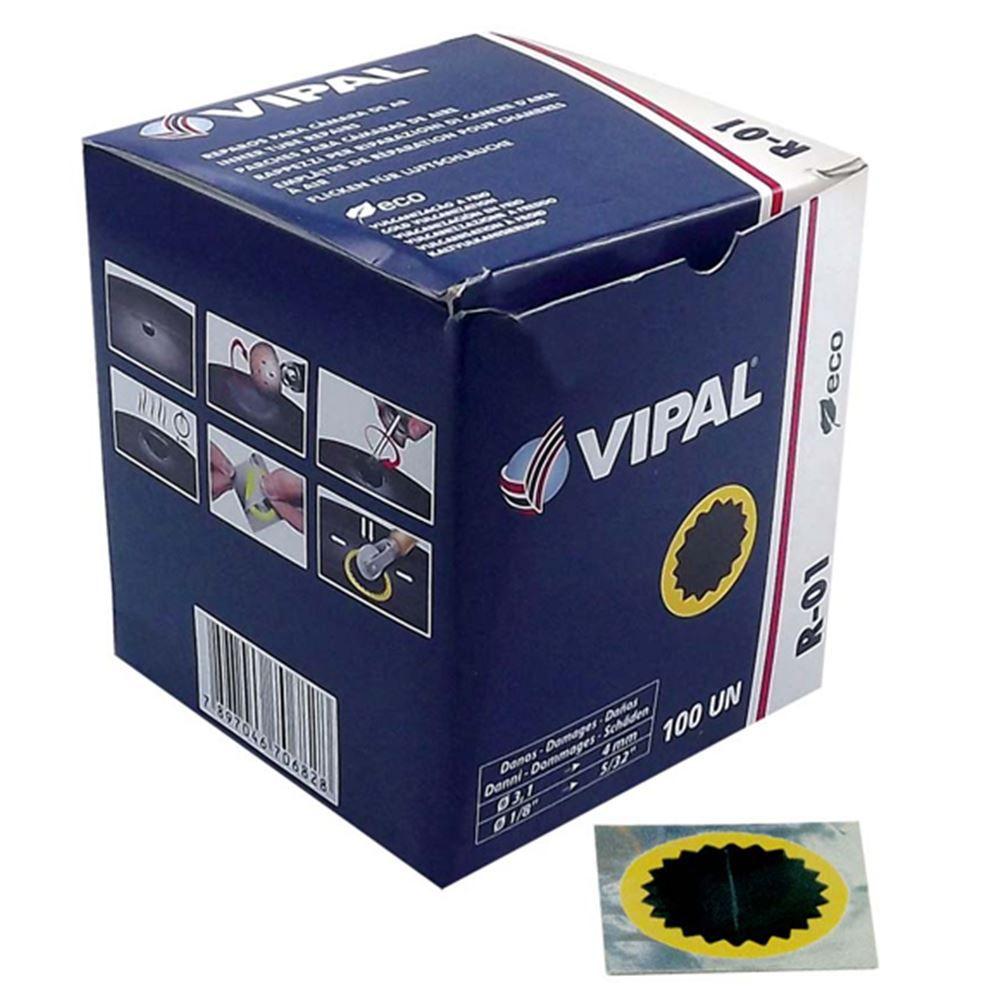 Remendo Para Câmara De Ar Vipal R-01 - Cx. 100 Unidades