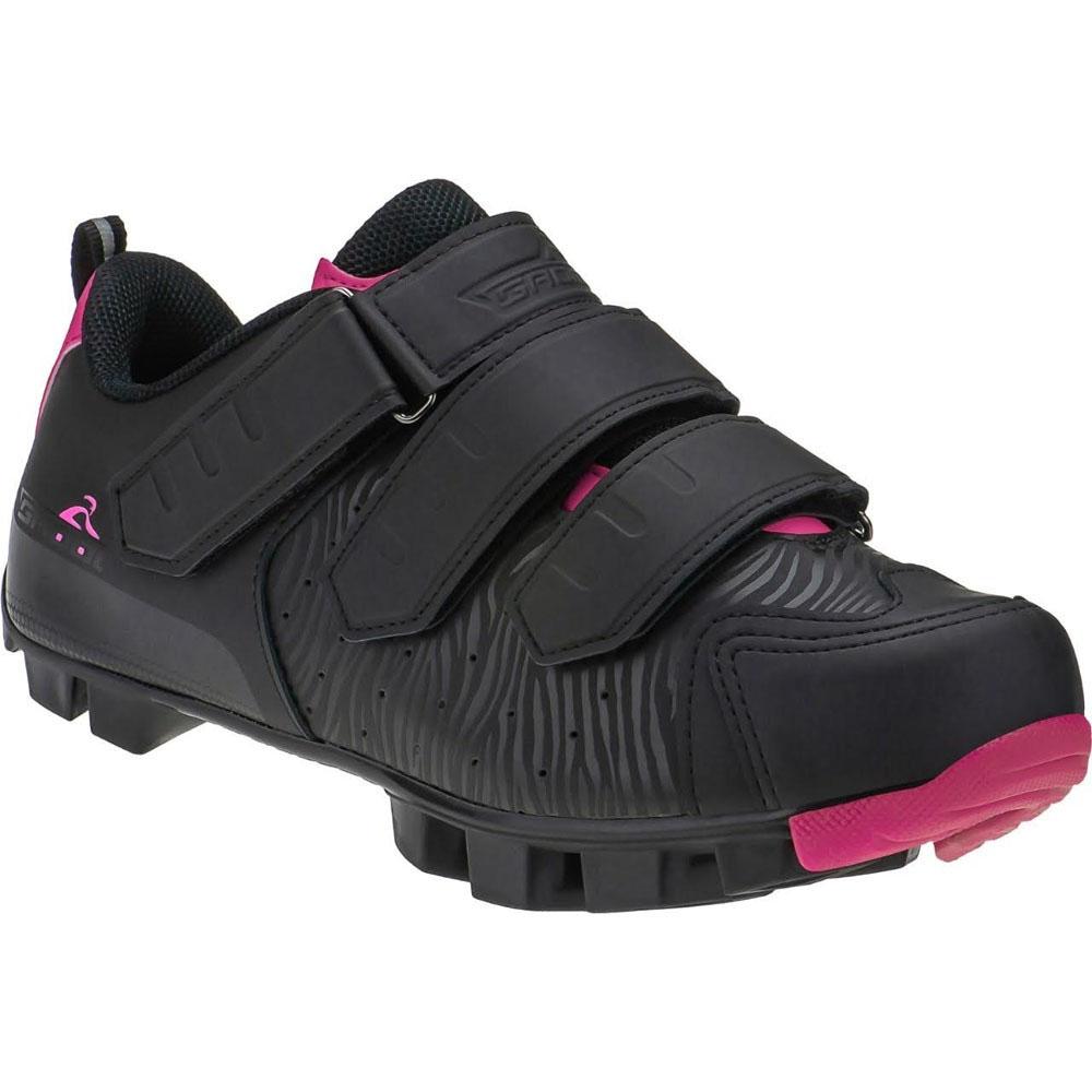 Sapatilha Ciclismo Grool Cool Velcro Preto e Pink 36 BR