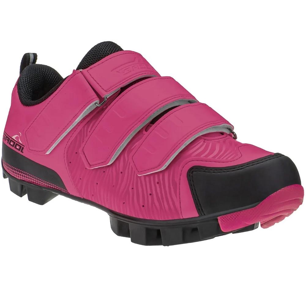 Sapatilha Ciclismo MTB Grool Velcro Pink 36 BR