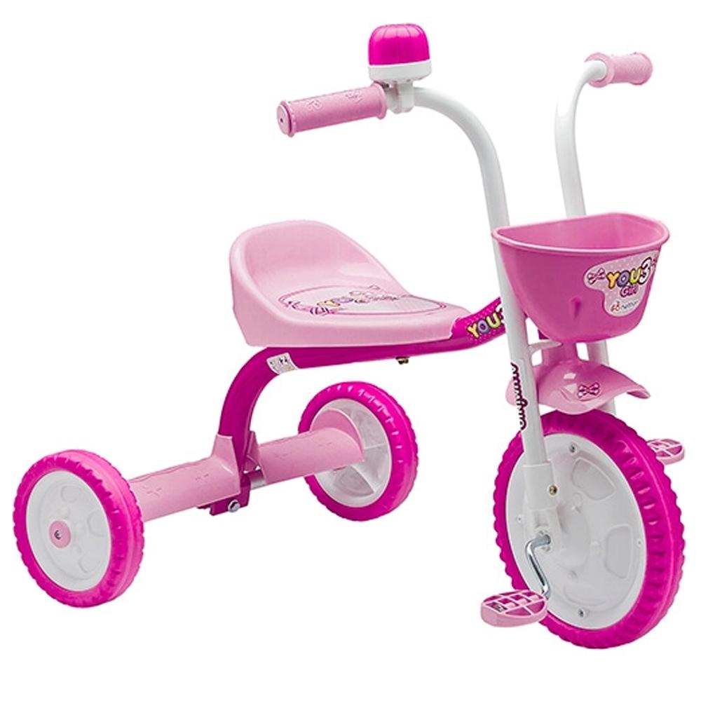 Triciclo Infantil Motoquinha Nathor You 3 Girl Rosa