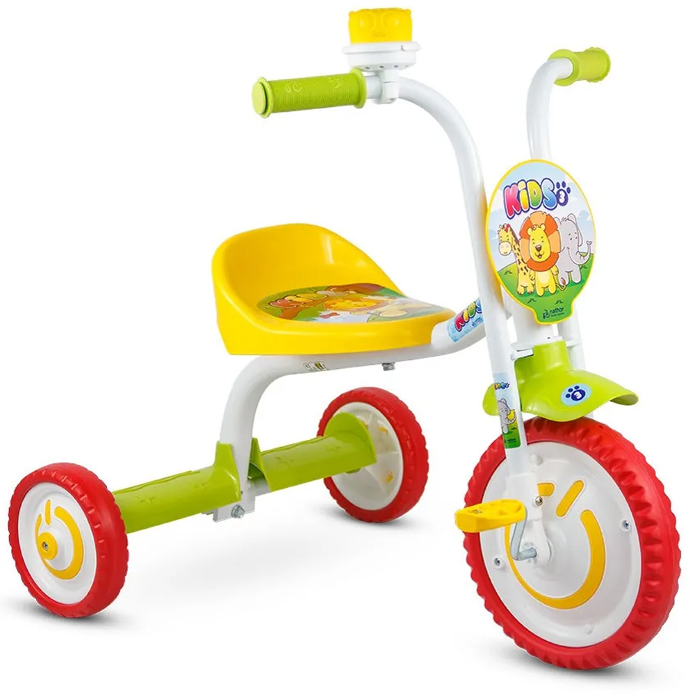 Triciclo Infantil Nathor You 3 Kids Amarelo/Branco