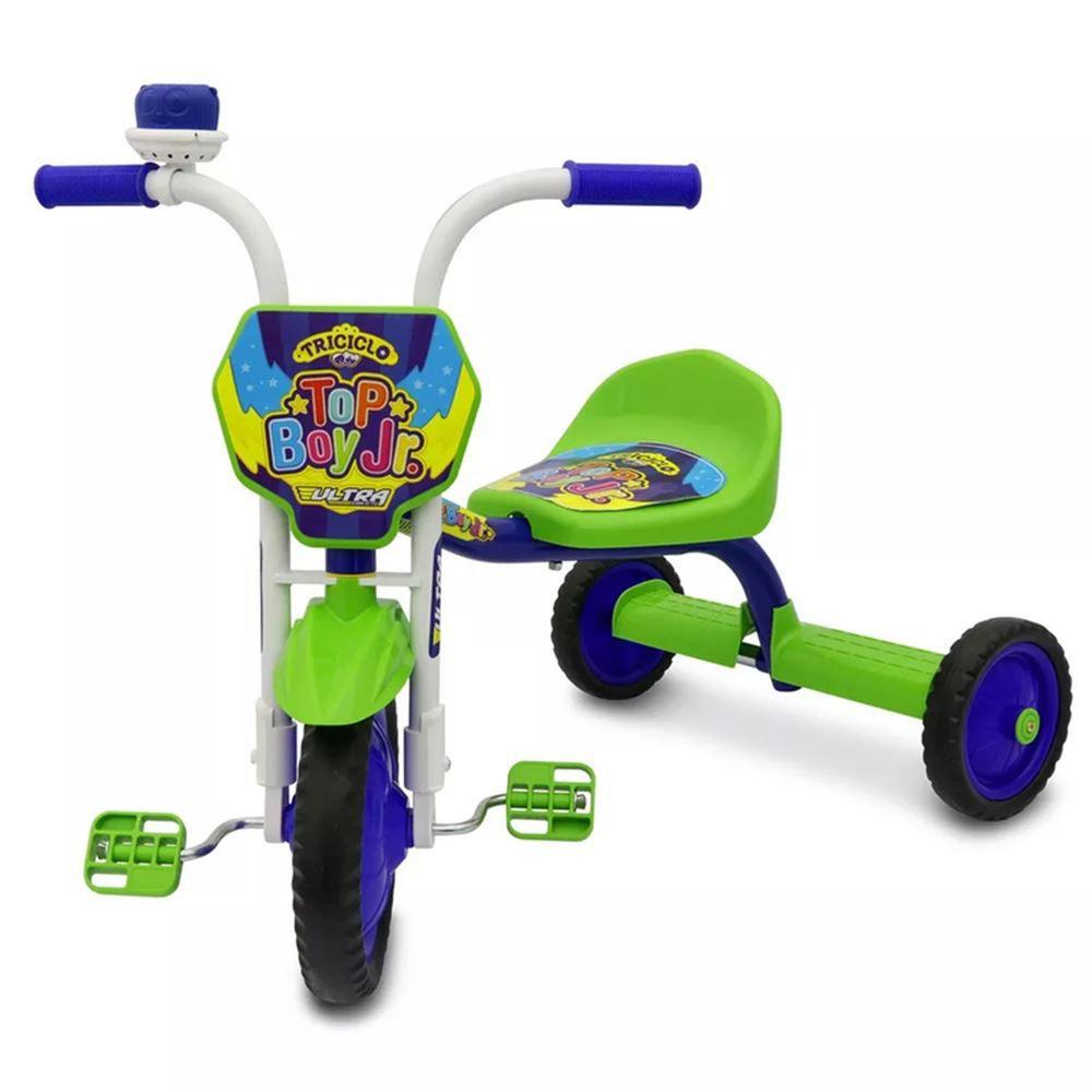 Triciclo Infantil Ultra Top Boy JR Azul e Verde