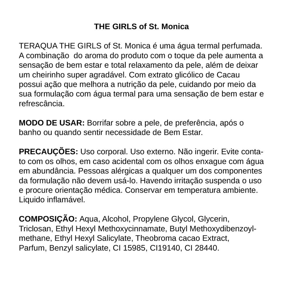 Água Termal Perfumada THE GIRLS of St Monica