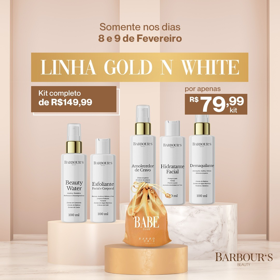 KIT GOLD N WHITE