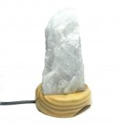 Luminária Quartzo Leitoso Bruto - a pedra que higieniza a alma
