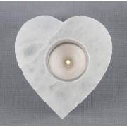 Porta Vela Selenita Coração