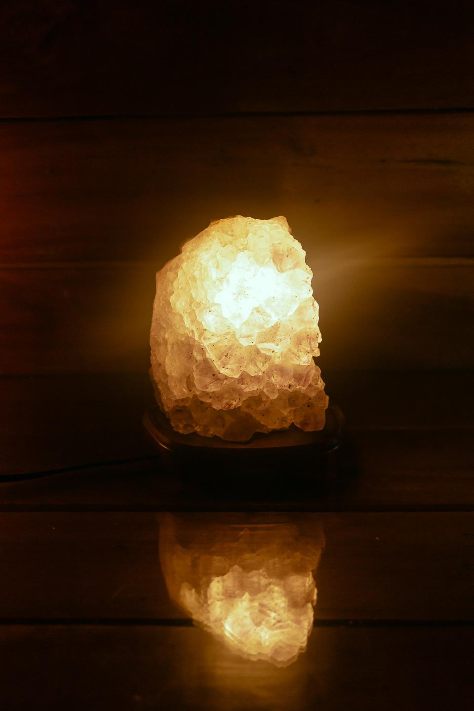 Luminaria Ametista Drusa Natural