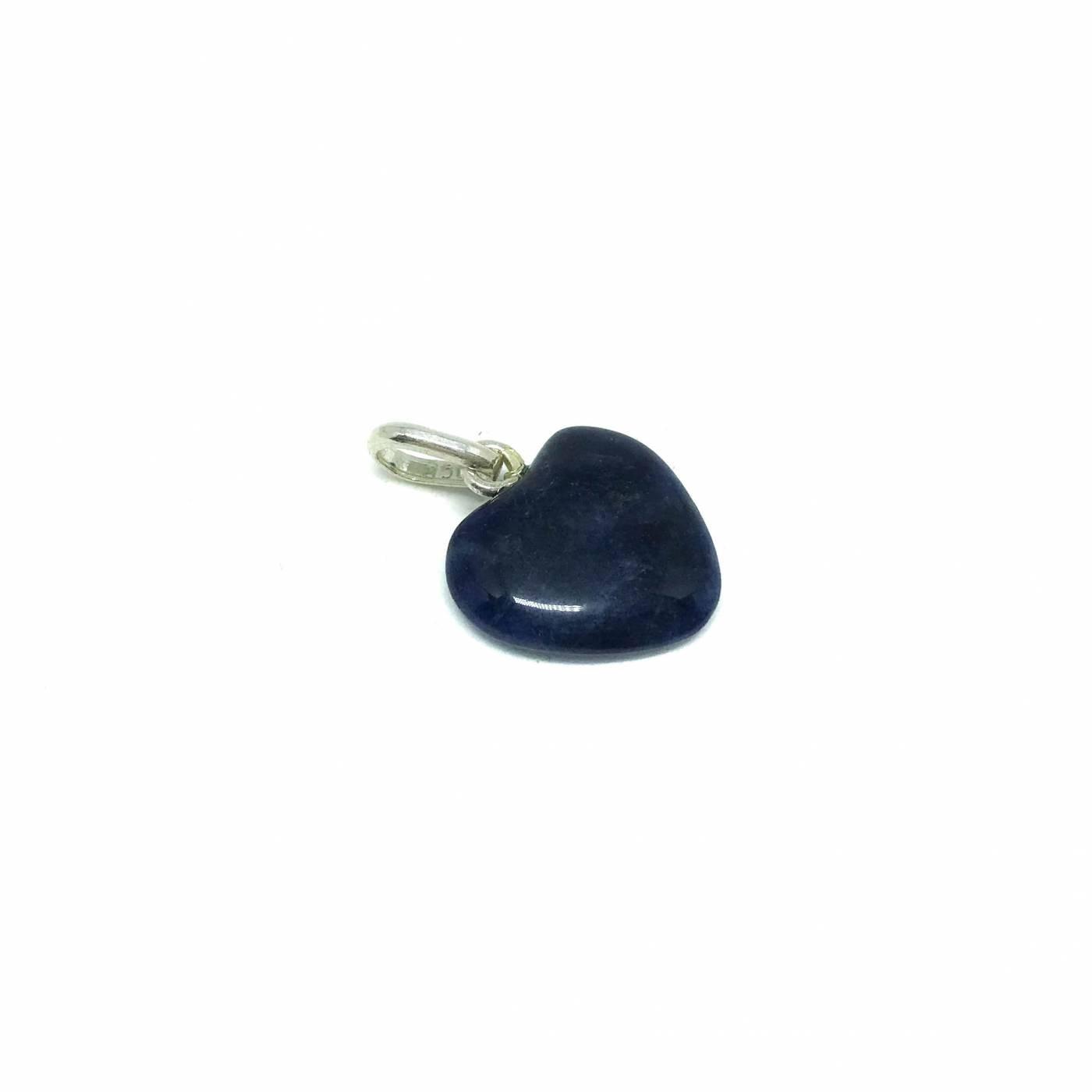 Mini Coração de Prata e Pedra