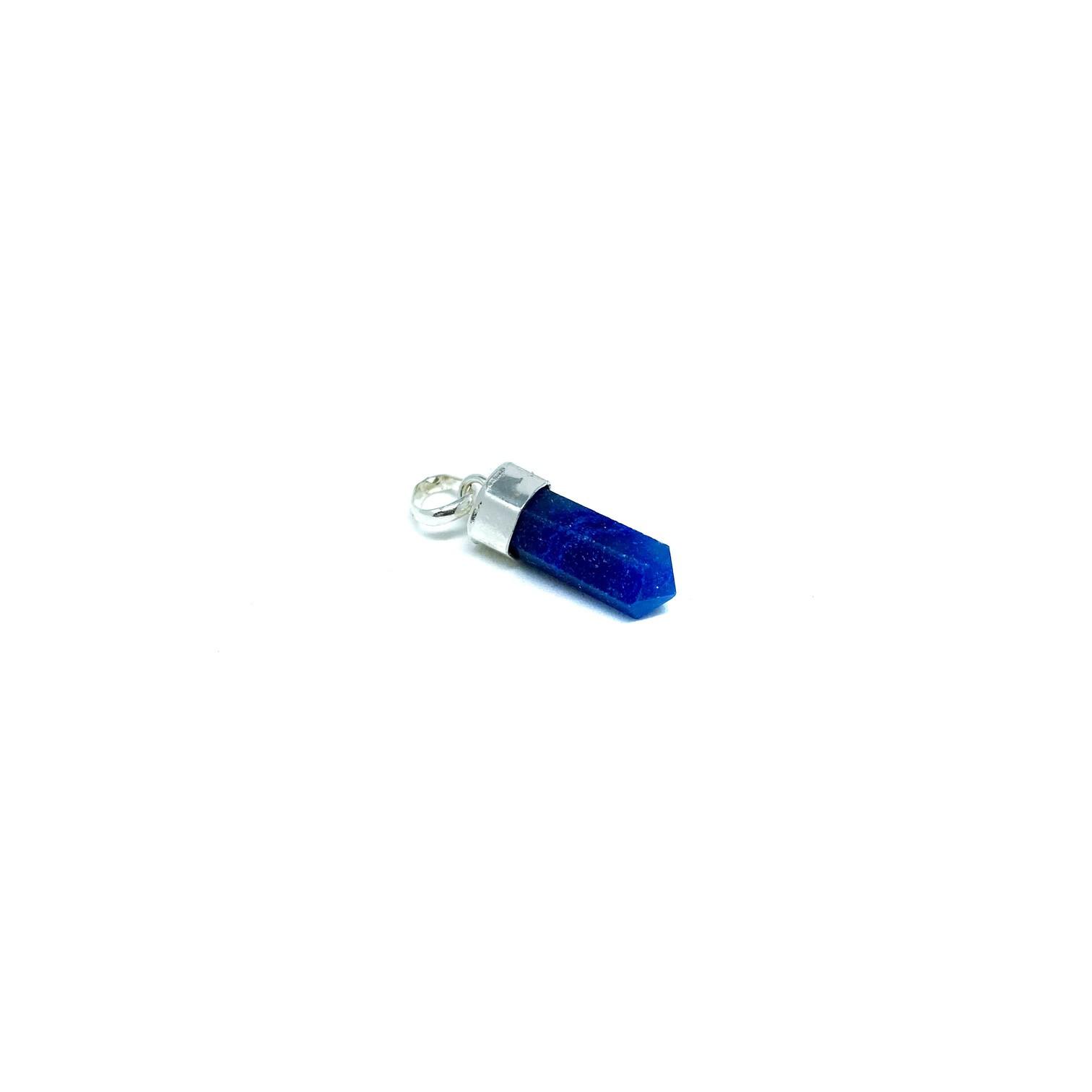 Pingente de Prata Mini Ponta Quartzo Azul