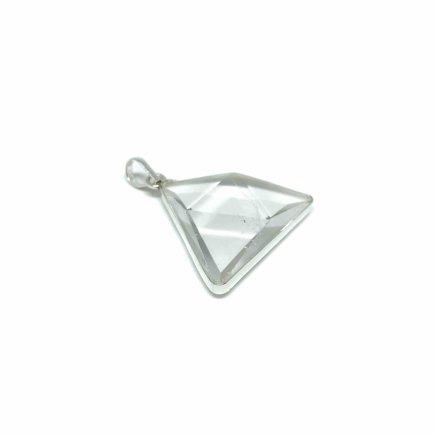 Pingente de Prata Quartzo Triângulo