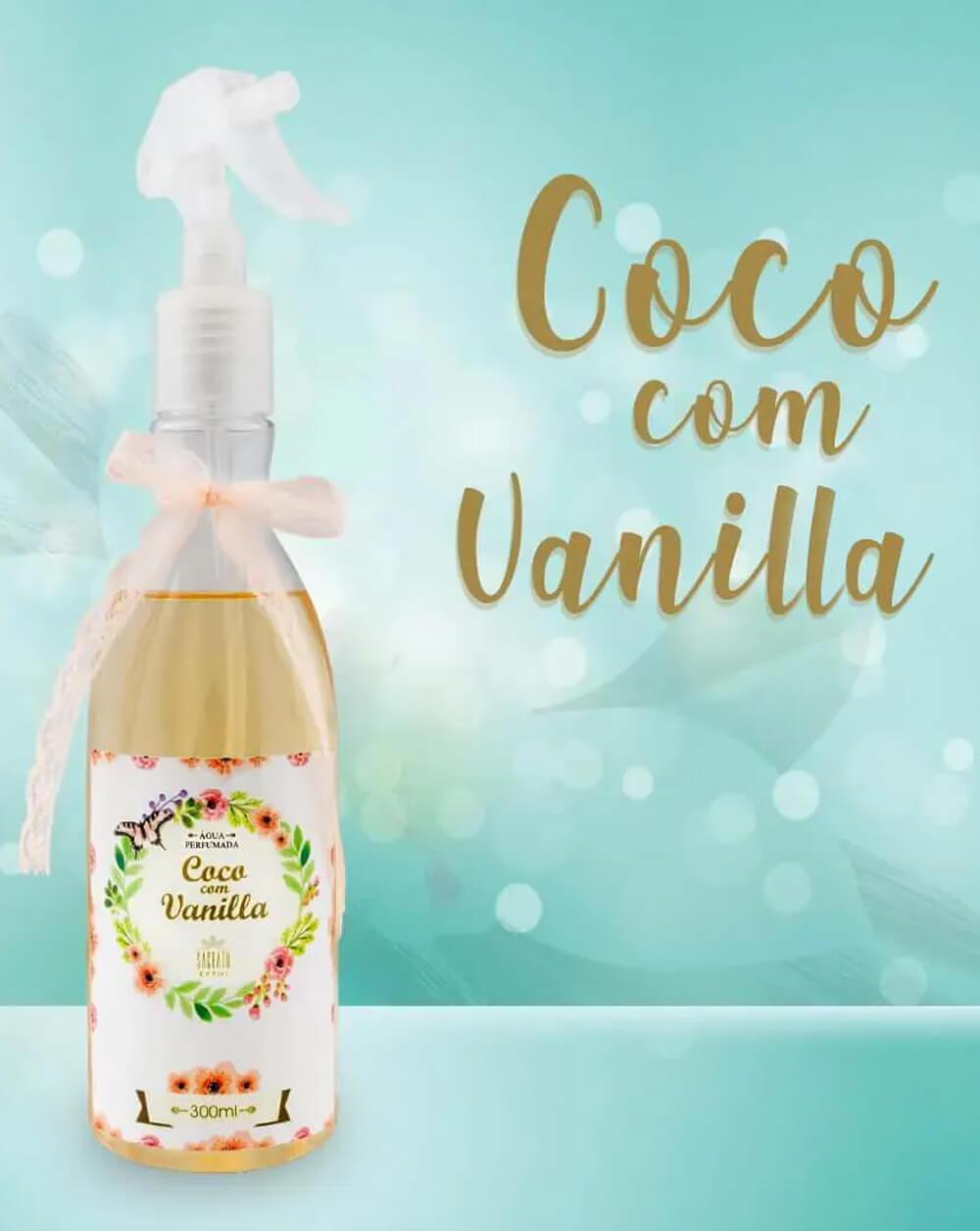 Água Perfumada Coco com Vanilla 300ml