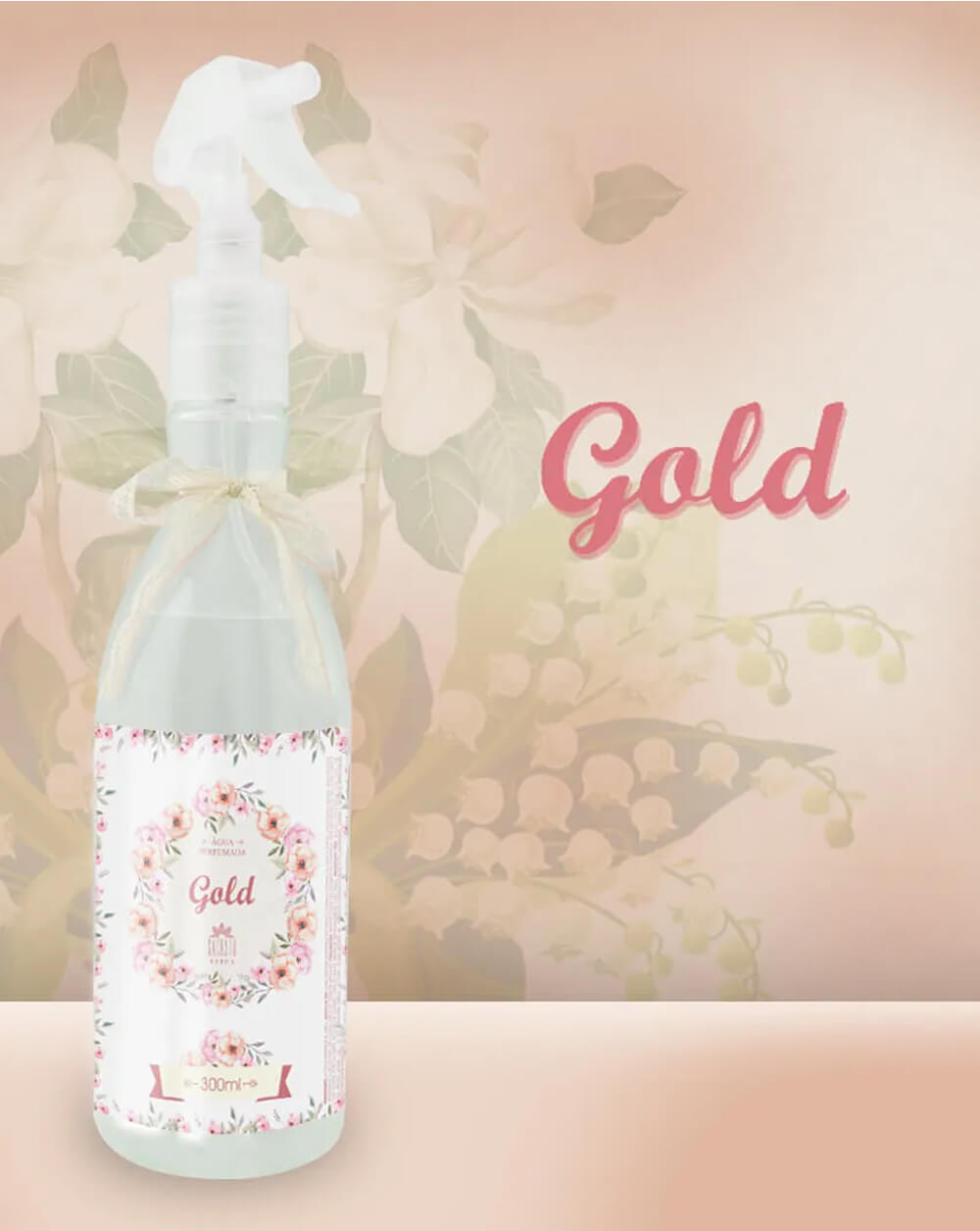 Água Perfumada Gold 300ml