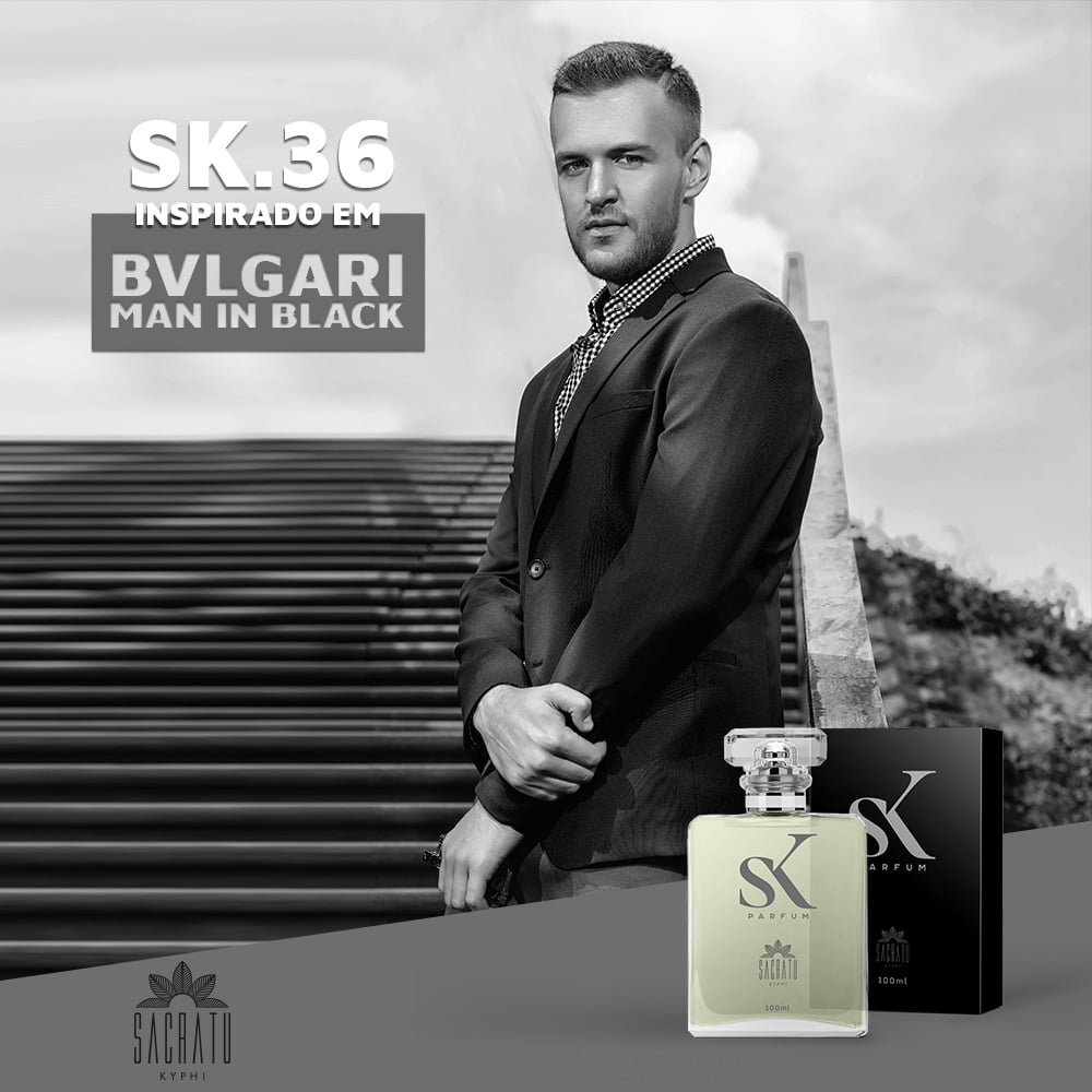 SK 36 - Inspirado no Bvlgari Man in Black by Bvlgari