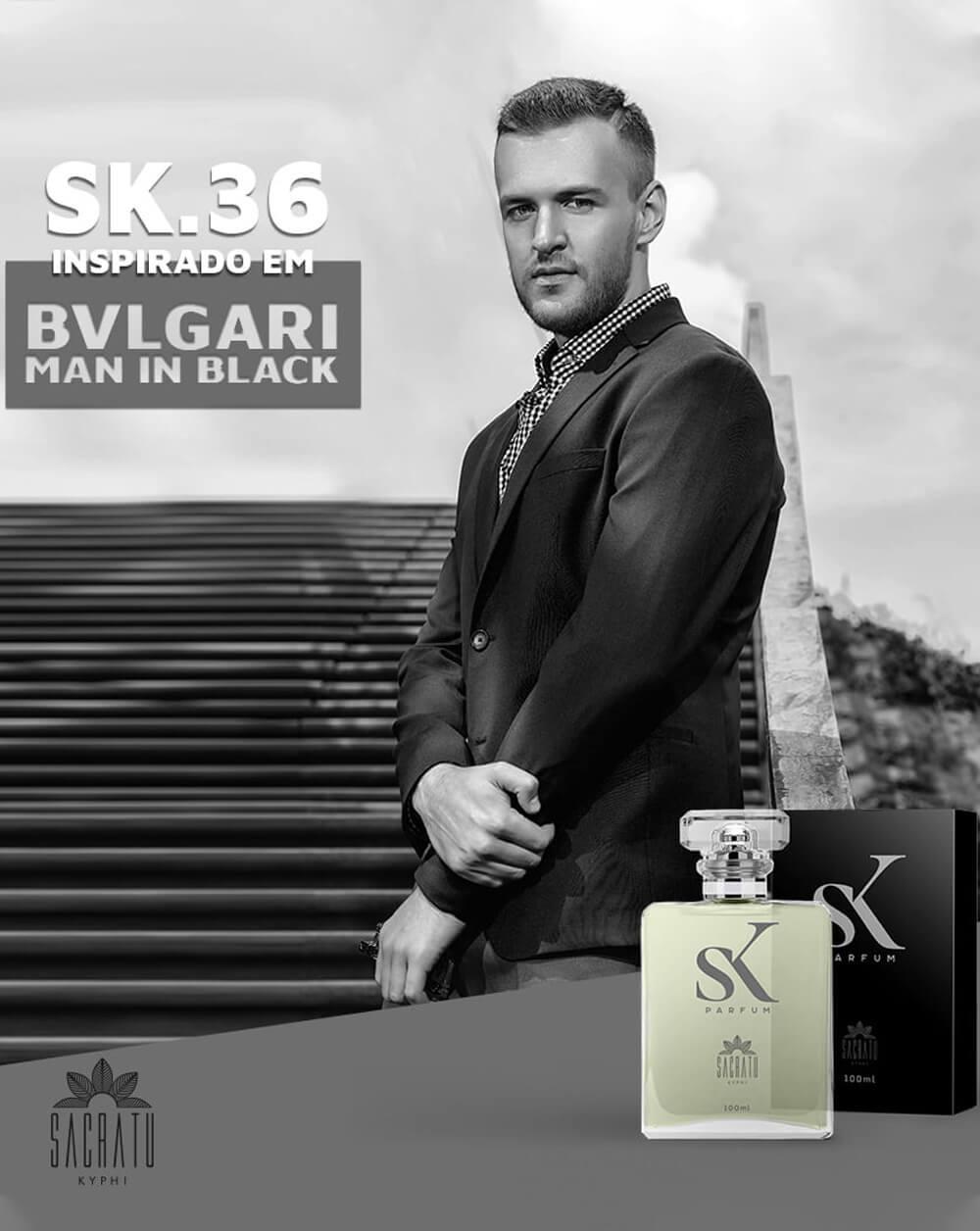 SK 36 - Inspirado no Bvlgari Man in Black by Bvlgari