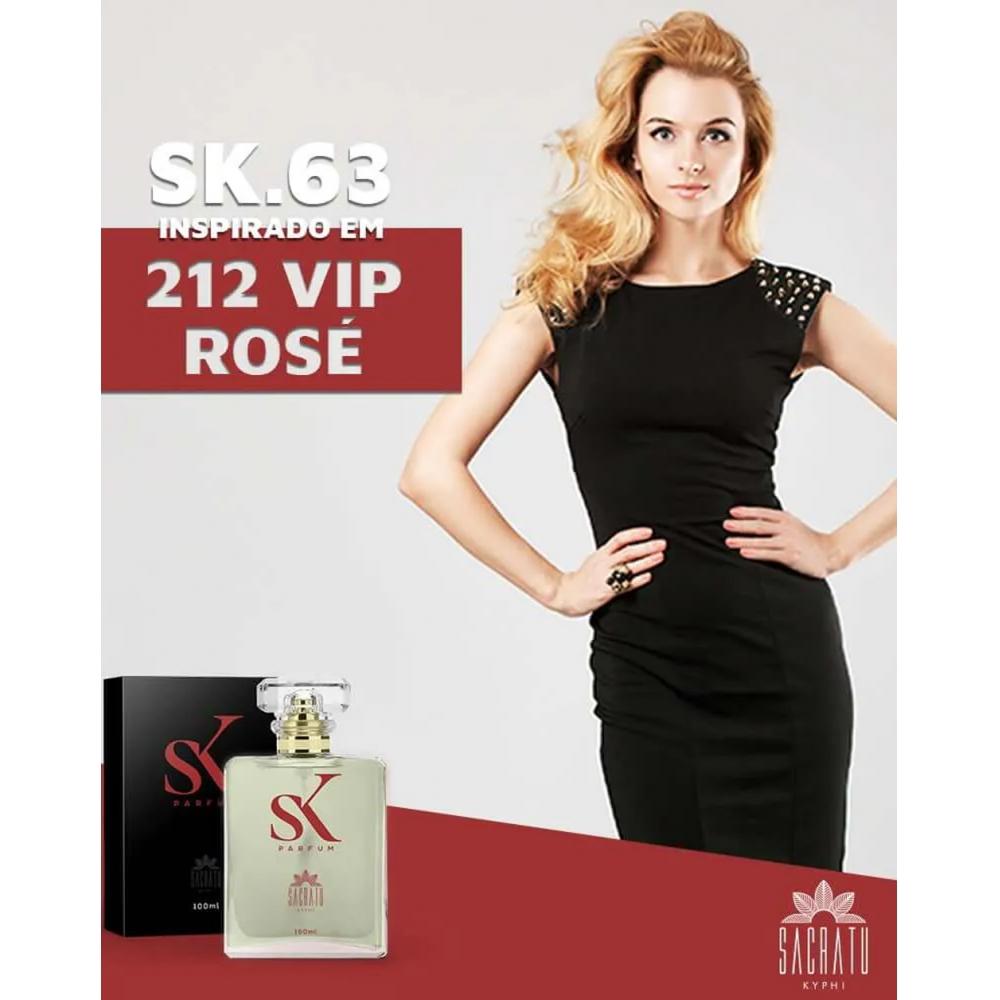 SK 63 Inspirado no 212 Vip Rose by Carolina Herrera
