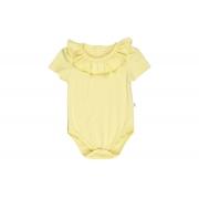 Body Curto Com Babado - Amarelo