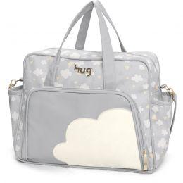 Bolsa maternidade grande Hug linha Nuvens Cinza