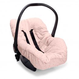Capa De Bebê Conforto Brilha Brilha Estrelinha Rosa