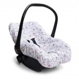 Capa De Bebe Conforto Jardim Rosa