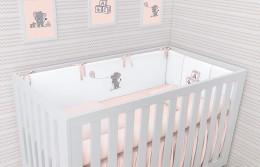 Kit Berço Slim Lembranças De Infância Rosa