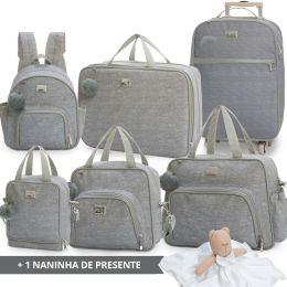 Kit bolsas completo linha Barcelona cor mescla + 1 naninha Grátis