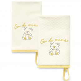 Kit Com 2 Babinhas Amarelo Acessórios 03