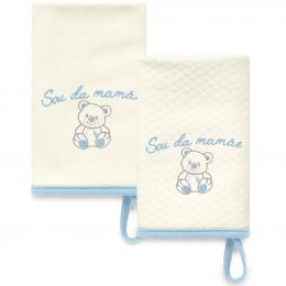 Kit Com 2 Babinhas Azul Acessórios 03