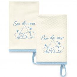 Kit Com 2 Babinhas Azul Acessórios 05