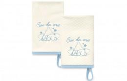 Kit Com 2 Babinhas Azul Acessórios - Sou da Vovó