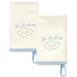 Kit Com 2 Babinhas Azul Acessórios 08