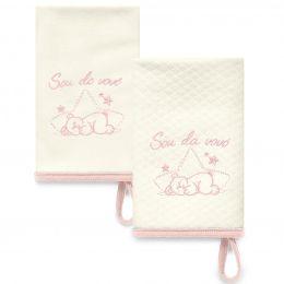 Kit Com 2 Babinhas Rosa Acessórios 05