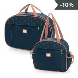 Kit de bolsas 2 peças linha Bombom cor azul marinho