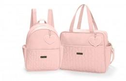 Kit de bolsas 2 peças linha Curaçau cor rosa